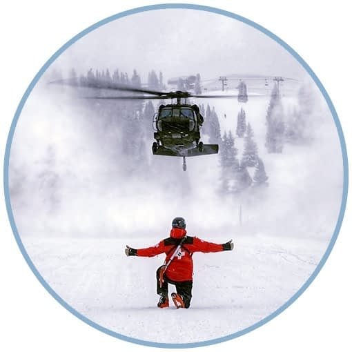 Landing a Rescue Helo in the Snow