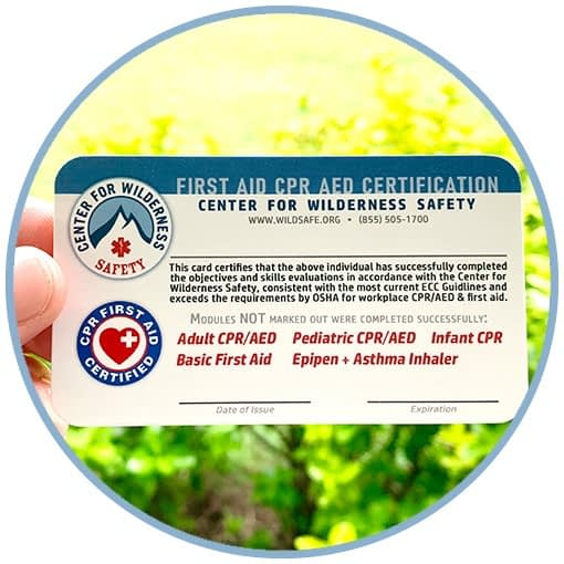 CWS CPR/AED Certification Card