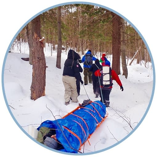 Using a Sked to carry a patient (Wilderness First Responder)